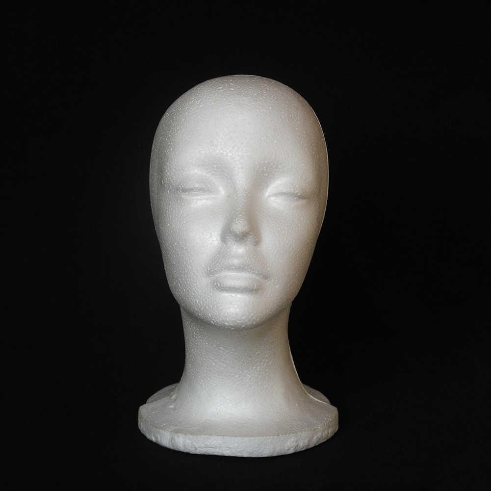 1 Pc Vrouwelijke Styrofoam Foam Mannequin Mannequin Hoofd Model Hoed Glazen Display Foam Mannequin Hoofd Model Hoed Pruik Display Stand rack