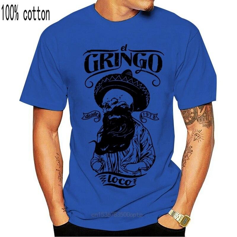 Футболка El Gringo Loco, Череп, борода, борода, старшая школа, Мексиканский Топ S M L Xl Xxl, Повседневная футболка для взрослых