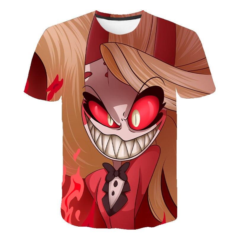 2020 New Anime Hazbin Cosplay Hotel T-Shirt Charlie T Shirt Dust Alastor Vaddie Tee 3D T Shirts Halloween Costume For Kids Adult