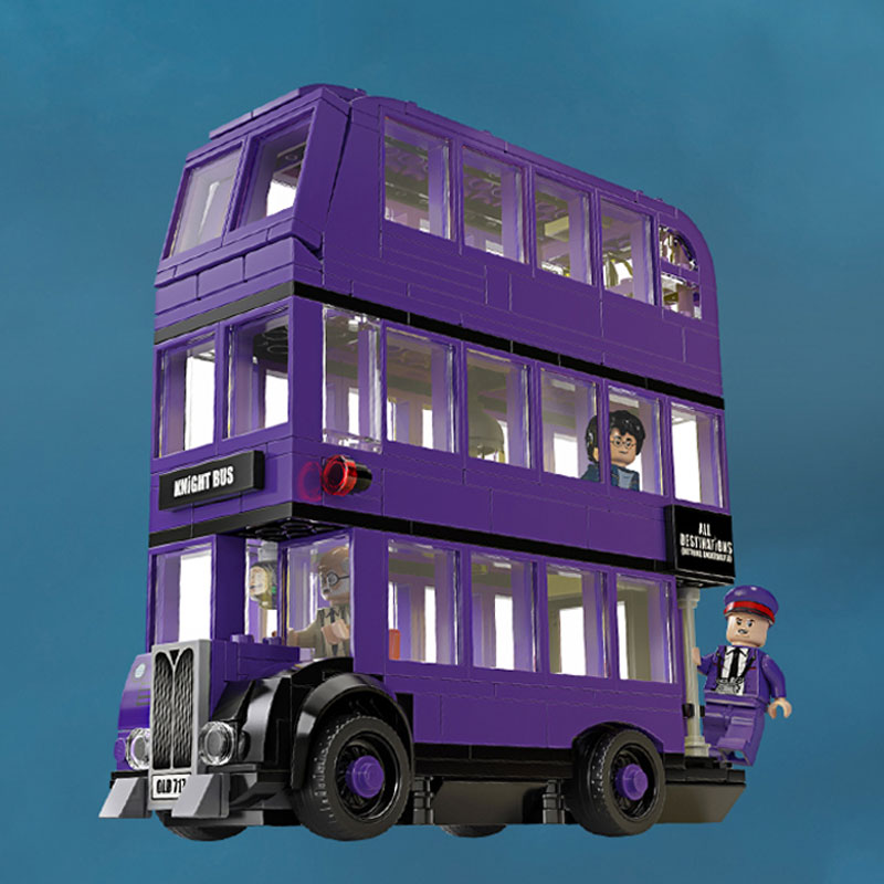 New Listing 11342 419pcs Porter Movie Series Knights bus building blocks brick toys compatible with 75957 Christmas gift