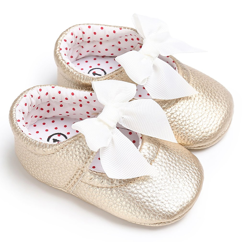 PU Baby Shoes Baby Girl Soft Shoes Soft Comfortable Bottom Non-slip Fashion Bow Shoes Crib Shoes 2019