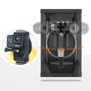 Image 1 - DJI OSMO ACTION Backpack Clip Fixed Soulder Strap For GoPro Hero 9/8/7/6/5/4 Sports Camera Gopro Accessories Stand Mount Adapter