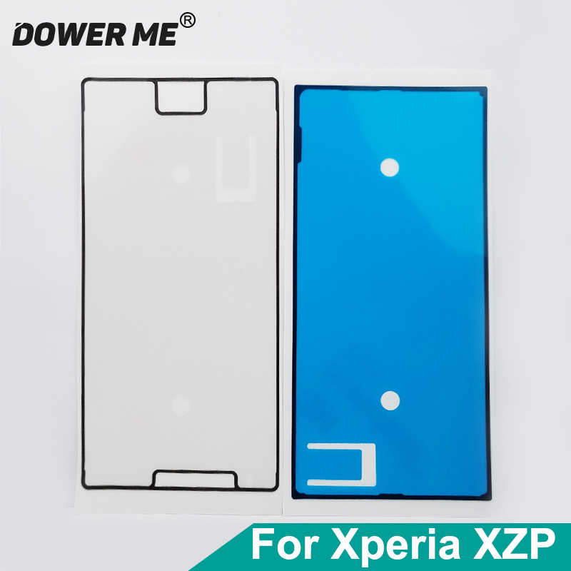 Dower Me Front Lcd Screen Frame Sticker Adhesive Rear Back Cover Glue Full Set For Sony Xperia XZ Premium XZP G8141 G8142