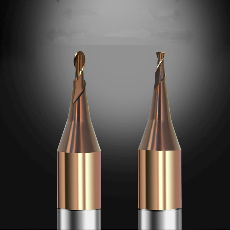 1pc HRC60 Micro End Mill 0.2mm 0.3mm 0.4mm 0.5mm 0.6mm 0.7mm 0.8mm 0.9mm 2 Flutes Carbide Flat Square CNC Milling Cutters Router