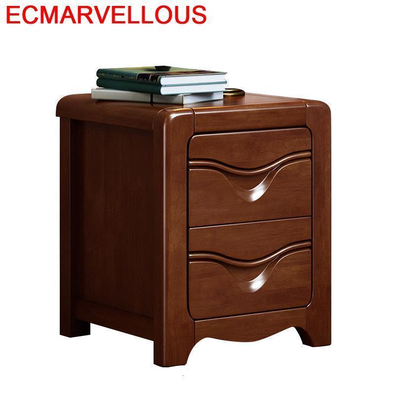 Legno Veladores Schlafzimmer European Vintage Wooden Cabinet Quarto Mueble De Dormitorio Bedroom Furniture Bedside Table