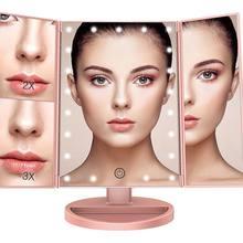 Рабочего стола увеличительное косметическое зеркало с светодиодный