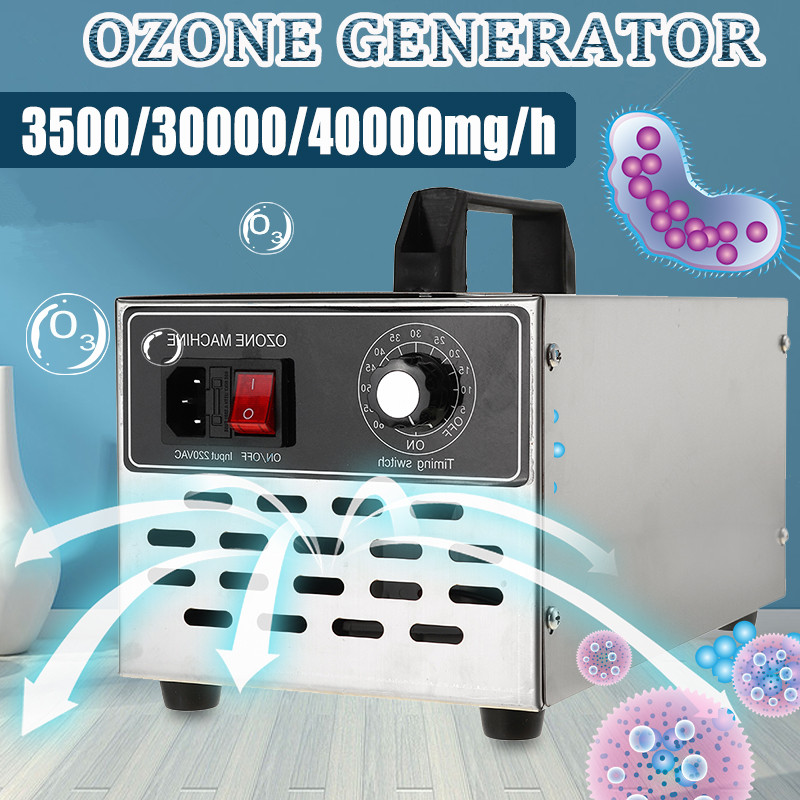 220V/110V Ozone Generator 3.5/30/40g Ozone Machine Stainless Steel Air Purifier Cleaner Ozonator Ionizer Disinfection Sterilizer
