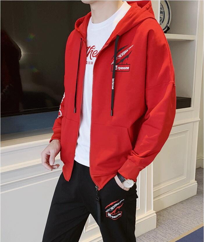 LS246 Men Fleece Jackets Sets Hooded Coat Thermal Thick Outerwear Male Military Casual Gothic Goth Men Jacket