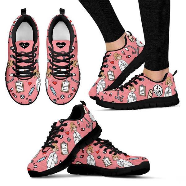 FORUDESIGNS dessin animé croquis Physio imprimer chaussures