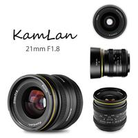 Kamlan 21mm F1.8 Portable Waterproof Mirrorless Camera Manual Fix Focus Prime Lens for Canon EOS M for Sony E for Fuji FX/ M4/3