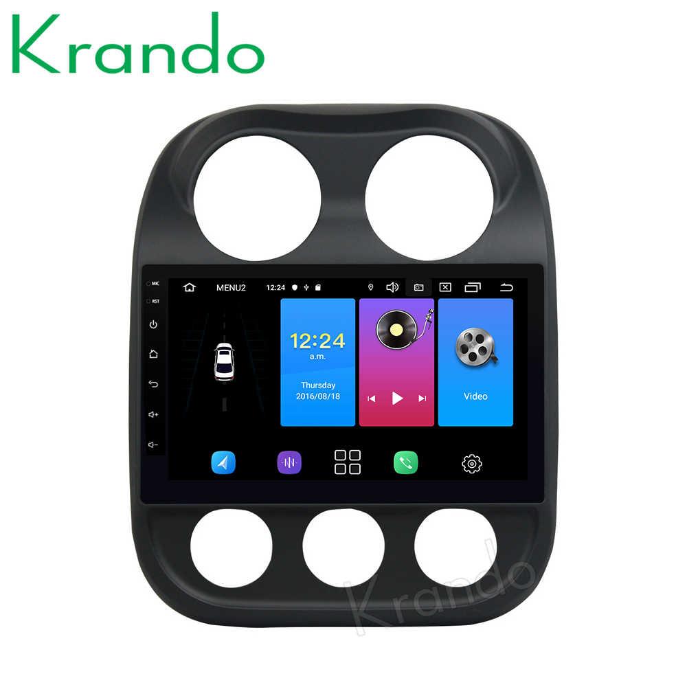 """Krando Android 9,0 de 10,1 """"IPS touch sistema multimedia del coche para Jeep COMPASS/Patriot 2007 + gps sistema de navegación No 2din DVD"""