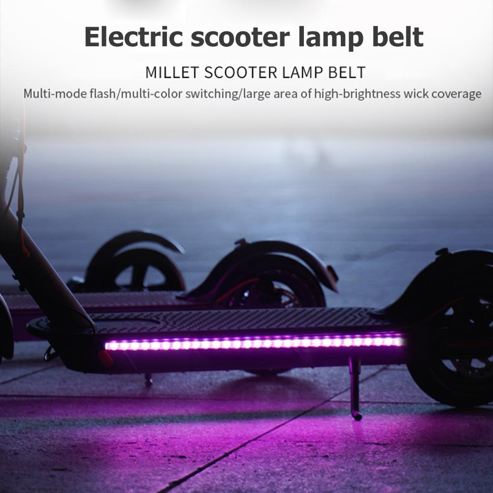LED Strip Bar Fit for Xiaomi Mijia M365 Electric Scooter Light Red//Blue//Clear