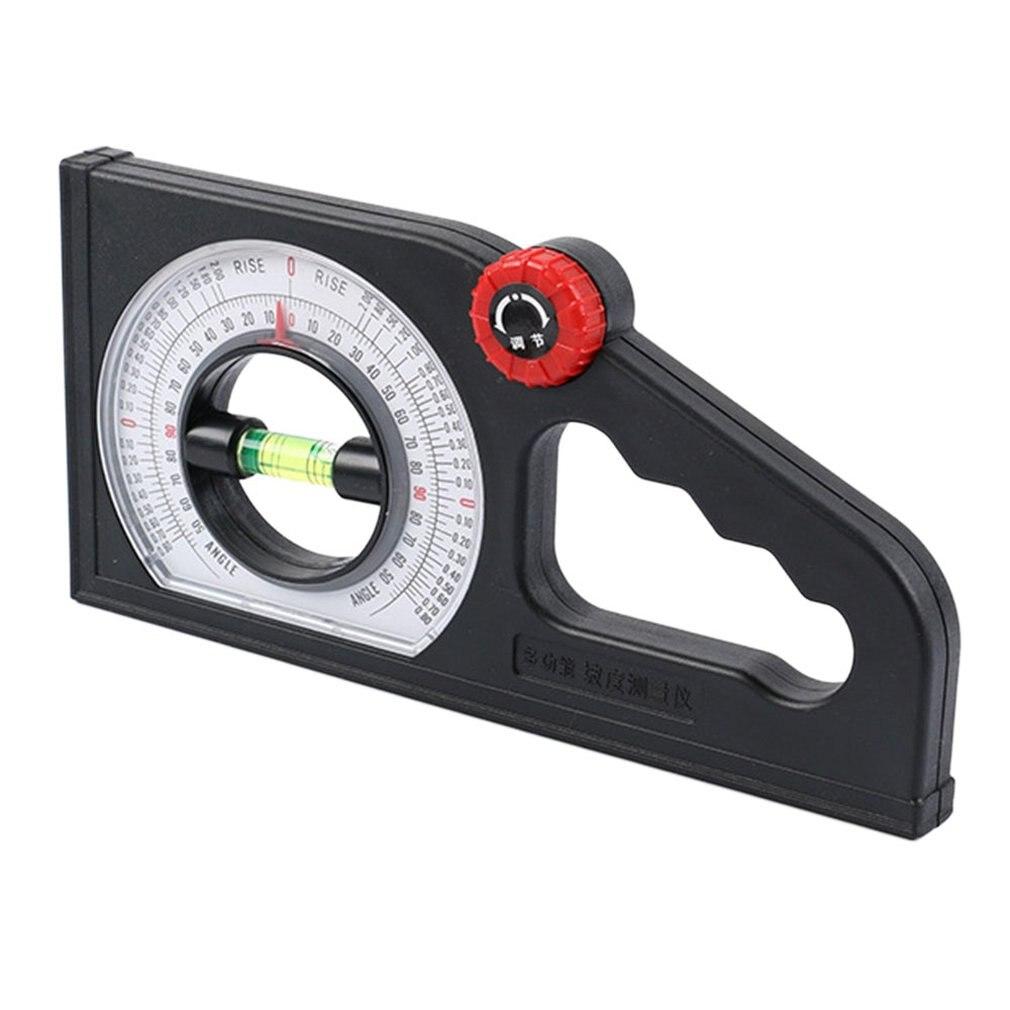 Buscador del ángulo del transportador multifuncional instrumento de medición de nivel de escala de pendiente con Inclinómetro de nivel de burbuja