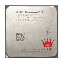 Procesador de CPU AMD Phenom II X4 945 Quad-Core, Socket AM3 938pin 95W 3,0 GHz HDX945WFK4DGM /HDX945WFK4DGI