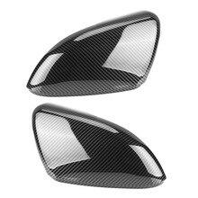 2 peças para vw golf mk6 r20 touran golf gti 6 golf r asa espelho tampas de cobertura (efeito carbono) para volkswagen tampas de cobertura de espelho