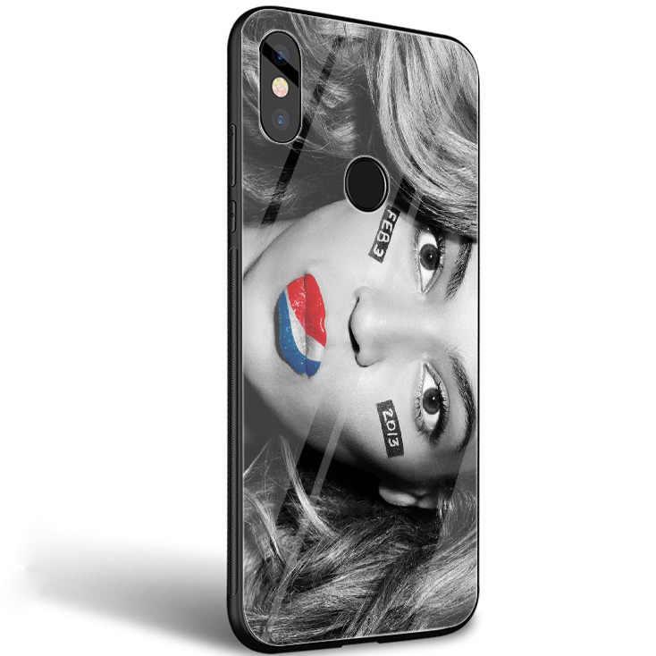 Beyonce muzyki Pop luksusowa moda na telefon ze szkła obudowa do Xiaomi mi 8 Lite 9 A1 A2 czerwony mi nocie 5 6 7 pro 6A 4X Pocophone F1 pokrywa