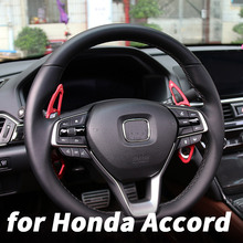 Aluminum alloy steering wheel shifting disc steering wheel gears for 10th Honda Accord 2018 2019 interior decoration decorative new for power steering pump honda accord 2 4 56110 r40 a01 56110r40a01 56110raaa03 for honda power steering pump