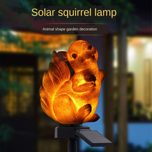 Solar lawn lamp outdoor waterproof resin imitation animal squirrel garden solar ground lamp  solar power light outdoor