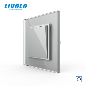 Image 2 - Livolo Manufacturer EU standard Luxury 4 colors crystal glass panel,1way Push Reset switch,restore switches,no logo