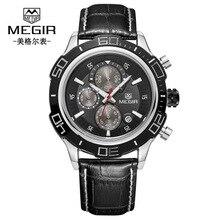 Fashion MEGIR 2019 Mens Watches Top Luxury Brand Business Steel Quartz Watch Casual Waterproof Male Wristwatch цена и фото