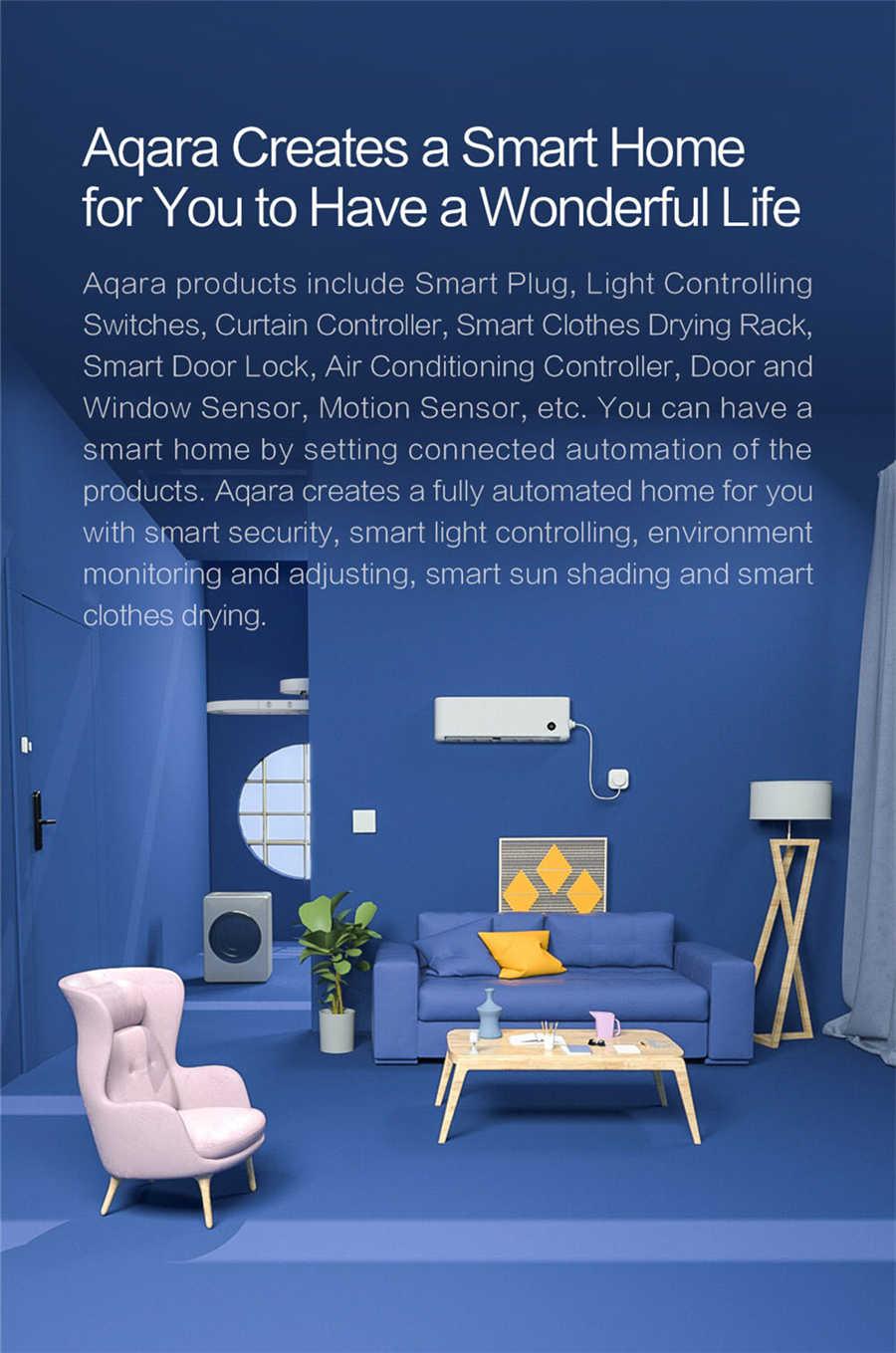 Aqara akıllı duvar anahtarı D1 Zigbee kablosuz ışık anahtarı 3 düğme anahtar nötr ses kontrolü Xiaomi mijia mi ev homekit