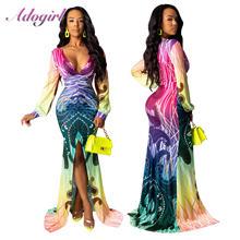Элегантное цветное длинное платье с цветочным принтом в стиле