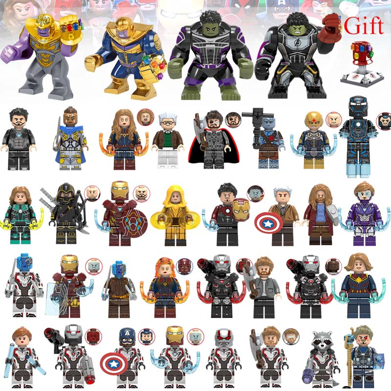 36PCS/LOT Super Heroes Building Blocks Legoeings Avengers Endgame Building Blocks Thanos Hulk Iron Man Action Figures Toys Gifts