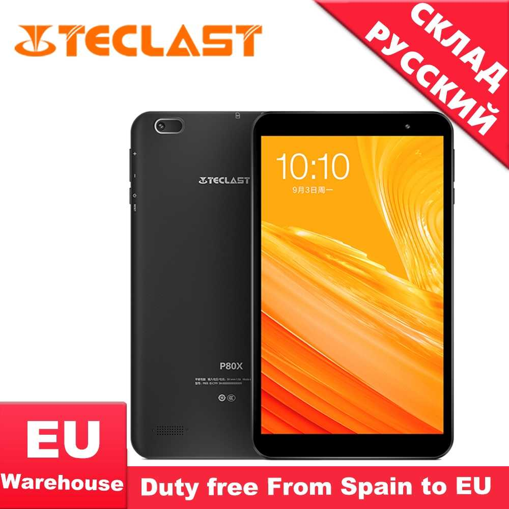 Teclast P80X 8 Inch 4G Tablet Android 9.0 SC9863A Img GX6250 1280X800 Ips Octa Core 1.6 Ghz 2 Gb Ram 16 Gb Rom Dual Camera Tablet