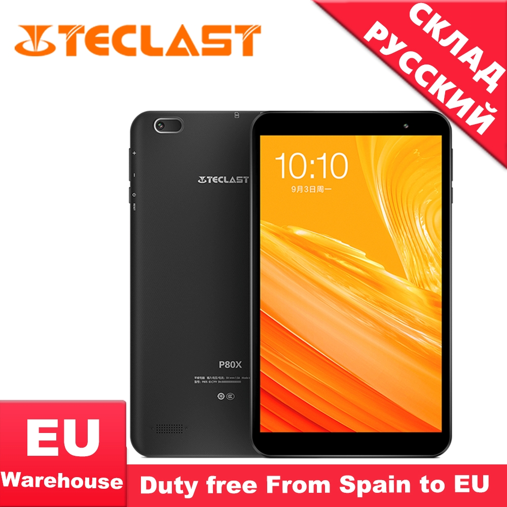 Teclast P80X 8inch 4G Tablet Android 9.0 SC9863A IMG GX6250 1280 X 800 IPS Octa Core 1.6GHz 2GB RAM 16GB ROM Dual Cameras Tablet