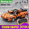 20087 1:12 APP Technik Auto Kompatibel Mit MOC-16915 McLarens P1 Motor Auto Modell Bausteine Ziegel Kinder Weihnachten Spielzeug Geschenk