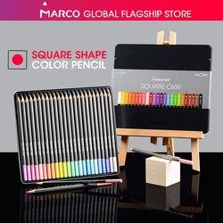 Marco 12/24 цветные квадратные пастельные карандаши, модный масляный цветной карандаш, цветной карандаш, Профессиональные цветные карандаши дл...