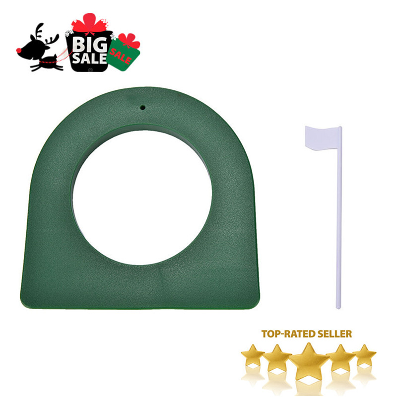 Practice Aids Hole Golf Putting Cup Green Flags Plastic Outdoor Indoor Yard Practice Putter Trainer Training Aid Tools Portable