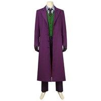 In Stock Batman The Dark Knight Cosplay The Joker Costume Heath Ledger Jacket Adult Men Halloween Carnival Outfit Custom Made