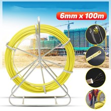 4.5/6mmX50/70/100m Guide Device Fiberglass Electric Cable Push Pullers Reel Duct Snake Rodder Fish Tape Wire Threading Aid Tool