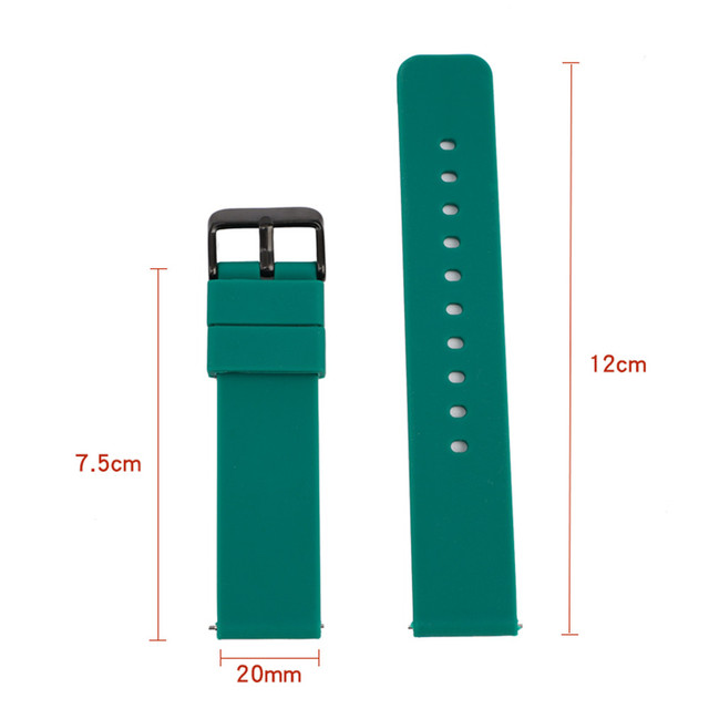 14mm 16mm 18mm 20mm 22mm 24mm Silicone Band Strap Quick Release Watchband Bracelet for Samsung Active 2 Huami Huawei Smart Watch 6