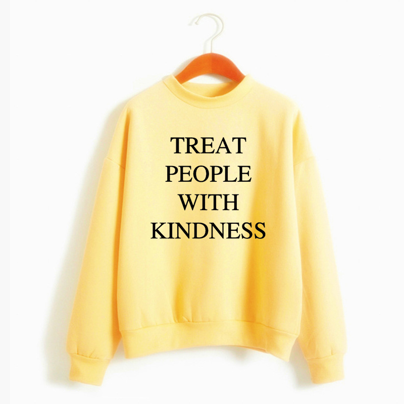 Casual Warm Pullover Hoodie Female Jumper Long Sleeve Autumn Winter  Harry Styles Treat People With Kindness Women'S Sweatshirt