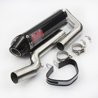 Slip for Honda CBR600RR CBR600 2003 2004 Motorcycle Exhaust System Under Seat Muffler Tail Tip Front Link Pipe Carbon Fiber