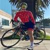 Xama ciclismo manga longa trisuit skinsuit feminino manga curta bicicleta wear macacão conjunto de roupas roadbike ciclo 14