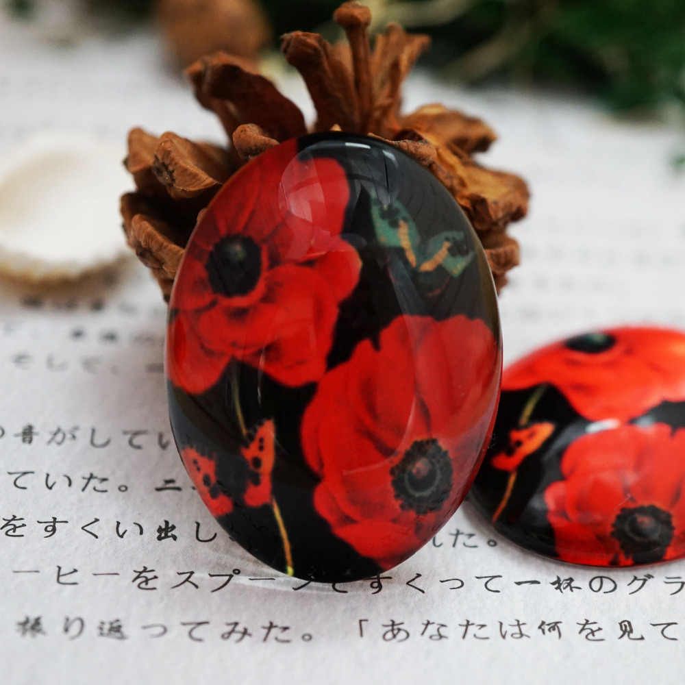รอบ 10-40 มม.18x25 มม.30x40 มม.ดอกไม้ Cabochon สำหรับสร้อยข้อมือสร้อยคอแหวนต่างหูเข็มกลัดเครื่องประดับ DIY Hand made SUPPLY