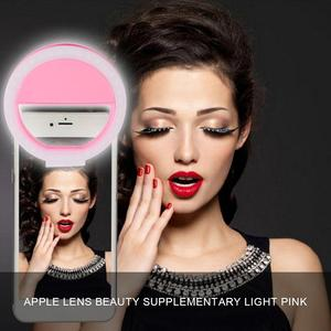 Portable Selfie Flash Led Clip-on Mobile Phone Selfie Light Night Female Anchor Beauty Self-timer Lamp Mini Camera Flashlight(China)