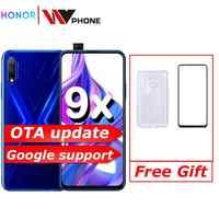 Honra 9x 9x pro Smart Phone Kirin 810 Octa Core 6.59 polegada Levantamento 48MP Tela Cheia Dual Câmeras 4000mAh GPU Telefone Móvel Turbo