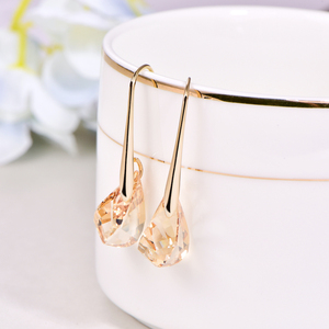 Image 4 - Original Crystal From SWAROVSKI Helix Pendant Drop Earrings For Women Fashion Gold Color Pendant Dangle earrings Jewelry Gift