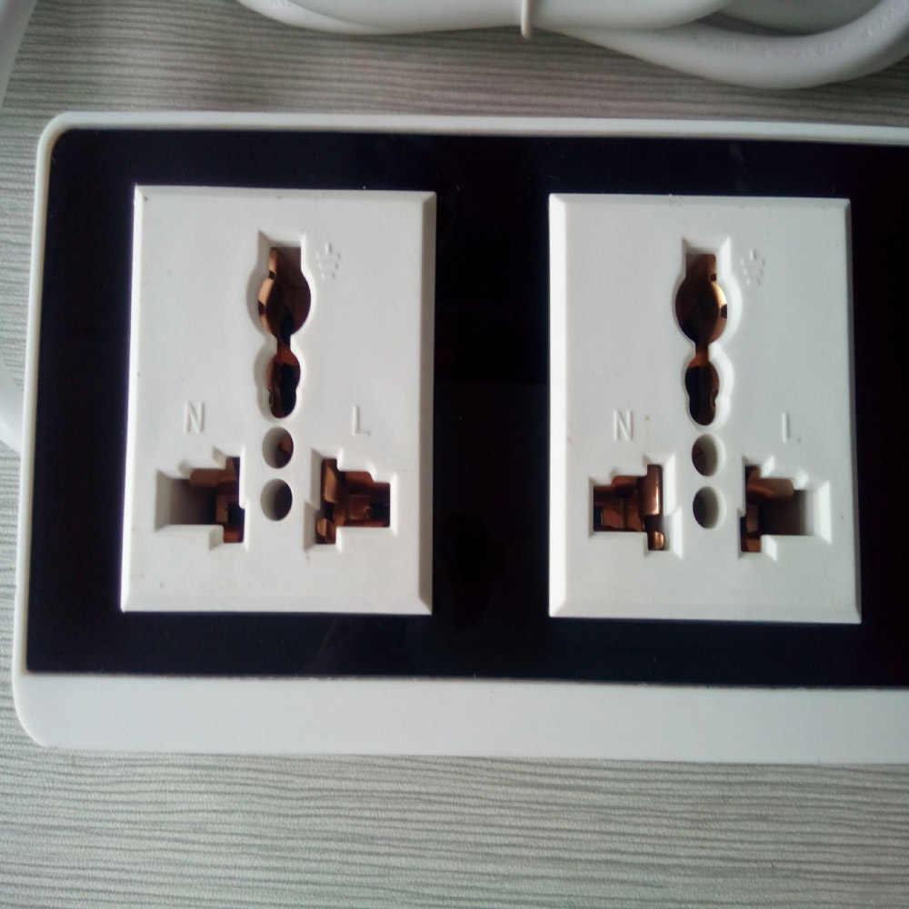 """Listwa zasilająca 4 Port USB 2AC wylot gniazda USB gniazdo ścienne inteligentny wtyk przedłużacza gniazdo zasilania, proszę kliknąć na przycisk """" zabezpieczenie przeciwprzepięciowe"""