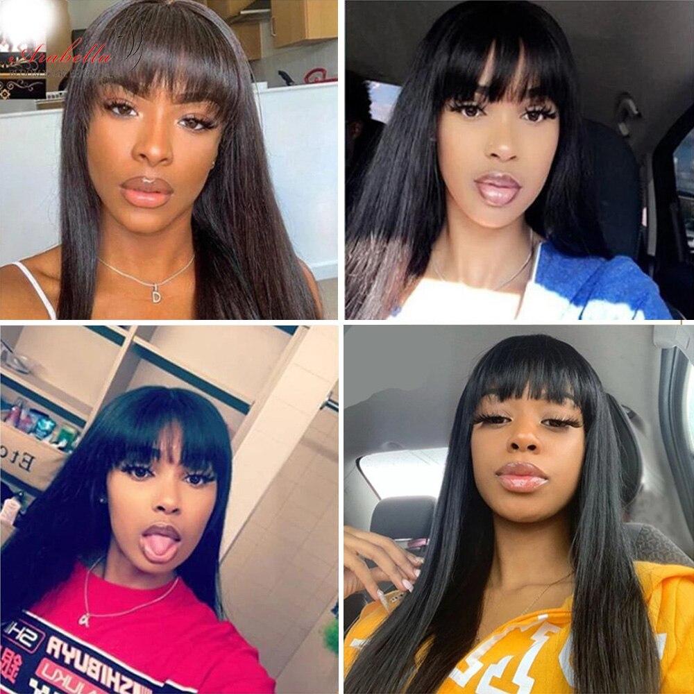 Glueless  Wigs With Bangs Arabella Hair  Straight Hair Wigs Silky Wig Full Machine Made Fringe Wig 4