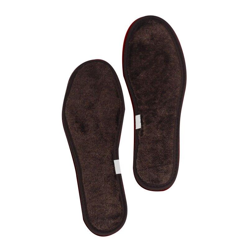 1 Pair New Useful Men Women Winter Boot Shoe Warm Wool Fleece Thermal Insole Pad