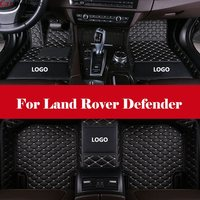 3D All Weather Car Foot Mat Waterproof Leather Floor Mats Liner + Embroidery LOGO For Land Rover Defender
