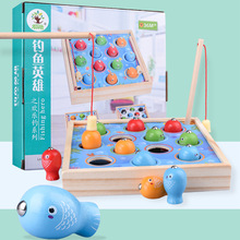 3D Fish Baby Kids Educational Toys Children Wooden Toys Magnetic Games Fishing Toy Game Kids Outdoor Funny Boys Girl Gifts недорого