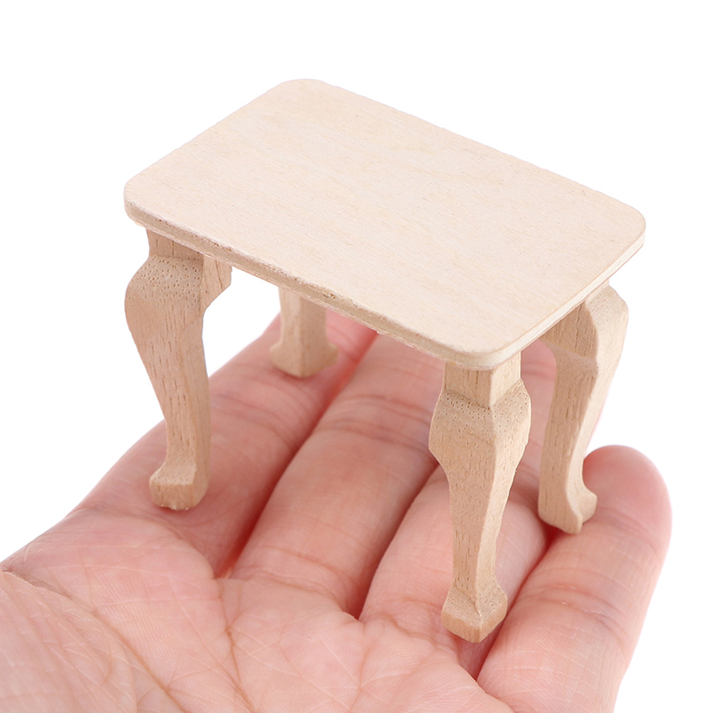 1:12 Dollhouse Miniature Accessories DIY Mini Wooden Table Doll House Decor