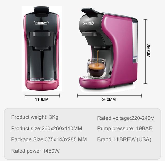 HiBREW ST-504 Espresso Coffee Machine 3-In-1 Multi-Function;Coffee Maker,Espresso Maker,Dolce gusto capsule coffee machine, 6