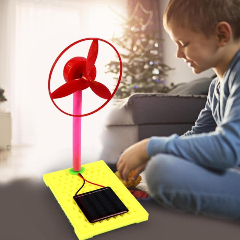 Hot Sale DIY Science Experiment Kits Wear-resistant DIY Handmade Toys For Children Science Experiment Solar Fan School Project